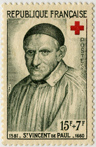 Croix-Rouge 1958 - Saint Vincent de Paul (1581-1660)